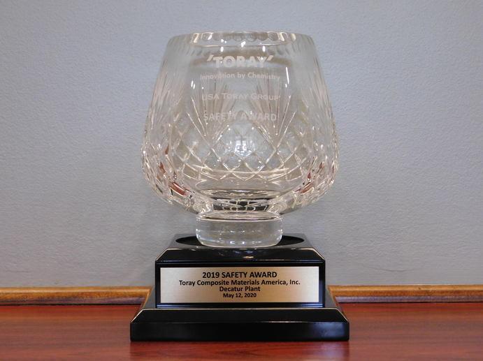 A glass award
